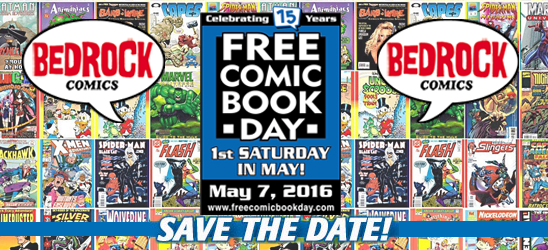 Free Comic Book Day at Bedrock Comics